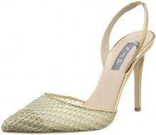 SJP by Sarah Jessica Parker Bliss 100, Scarpe con Cinturino alla Caviglia Donna, Oro (Gold Mesh), 41 EU