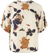 Y.A.S Floral Short Sleeved Top Women Beige