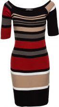 Abito in maglia a righe (Rosso) - BODYFLIRT boutique