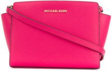 Michael Michael Kors - logo shoulder bag - women - Leather - One Size - PINK & PURPLE