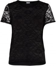ONLY Lace Short Sleeved Top Women Black
