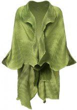 Issey Miyake - frilled shawl jacket - women - Polyester/Polyurethane - OS - Verde