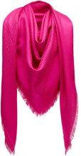 Fendi - Sciarpa con monogramma - women - Silk/Wool - OS - PINK & PURPLE