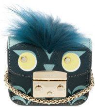 Furla - Mini borsa 'Metropolis Jungle' - women - Leather/Fox Fur - OS - BLUE