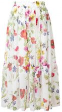 Blugirl - Gonna a ruota a fiori - women - Polyester - 38, 40, 42 - WHITE
