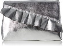 Buffalo 188637 - Pochette da giorno Donna, Argento (Silver138), 2x22x30 cm (B x H T)