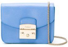 Furla - Metropolis crossbody bag - women - Leather/Nylon/Viscose - One Size - BLUE