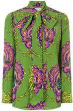 Gucci - Blusa con stampa anni '70 - women - Silk - 40, 42, 44, 46, 38 - GREEN