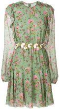 Giambattista Valli - Vestito con stampa floreale - women - Silk - 40 - GREEN