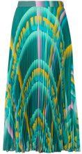 Marco De Vincenzo - patterned A-line skirt - women - Silk/Polyester - 38, 40, 42, 44, 46 - GREEN