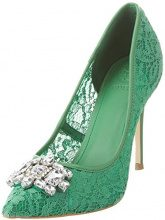 Guess Footwear Dress Sandal, Scarpe Col Tacco Punta Chiusa Donna, Verde (Medium Green), 35 EU