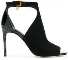 Tory Burch - Ashton booties - women - Suede/Patent Leather/Leather - 6.5, 8, 9, 9.5, 10, 5, 6, 7, 7.5, 8.5 - BLACK