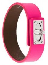 Givenchy - 'Shark' bracelet - women - Bullhide Leather - S, M - PINK & PURPLE