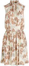 Y.A.S Floral Mini Dress Women Beige
