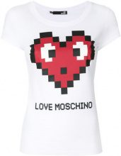 Love Moschino - T-shirt con logo stampato - women - Cotton/Spandex/Elastane - 38, 42 - WHITE