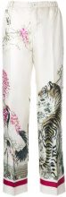 F.R.S For Restless Sleepers - Pantaloni stampati - women - Silk - XL - WHITE