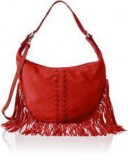 Chicca Borse 8630, Borsa a Spalla Donna, Rosso (Red), 40x27x7 cm (W x H x L)