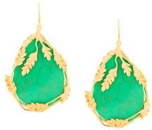 Aurelie Bidermann - Orecchini 'Francoise' - women - Gold Plated Brass - OS - GREEN