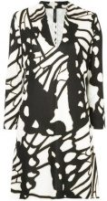 - Marc Cain - printed shirt dress - women - viscose/Spandex/Elastane/Cotone - 40 - Nero