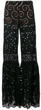 Alberta Ferretti - sheer flared trousers - women - Cotton/other fibers/Acetate/Silk - 40, 42 - BLACK