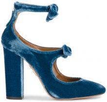 Aquazzura - Pumps 'Sandy' - women - Leather/Velvet - 38, 39, 40, 41 - BLUE