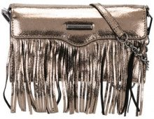 Rebecca Minkoff - fringed metallic clutch - women - Leather - One Size - METALLIC
