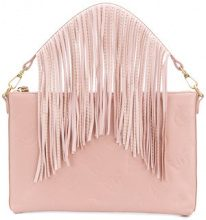 Pinko - Borsa Clutch con frange - women - Leather - OS - PINK & PURPLE