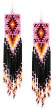 Jessie Western - short beaded drop earrings - women - glass - OS - MULTICOLOUR