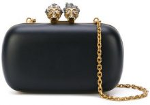 Alexander McQueen - Queen and King skeleton box clutch - women - Calf Leather - One Size - Nero