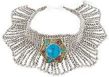 - Night Market - choker necklace - women - PVC/Brass - Taglia Unica - Metallizzato
