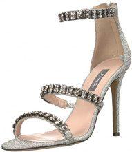 SJP by Sarah Jessica Parker Orbit, Sandali con Cinturino alla Caviglia Donna, Argento (Frost Silver Glitter), 36 EU