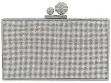 Sophia Webster - Borsa clutch con cristalli - women - Metal (Other) - One Size - GREY
