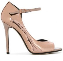 Marc Ellis - Pumps con punta aperta - women - Leather/Patent Leather - 36, 37, 38, 39 - METALLIC