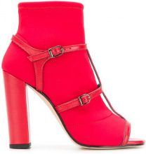 Marc Ellis - open-toe buckled sandals - women - Leather/Polyester - 36, 37, 38, 39, 40 - RED
