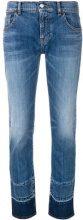 Emporio Armani - Jeans crop con pannello a contrasto - women - Cotton/Spandex/Elastane - 25, 26, 27, 28, 29, 30, 31 - BLUE