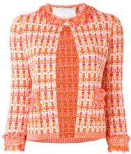 Giada Benincasa - Giacca con dettagli a frange - women - Cotton/Polyester/Spandex/Elastane/Viscose - S, M, L - YELLOW & ORANGE
