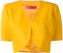 Emanuel Ungaro Vintage - Giacca crop - women - Cotton/Acetate/Cupro/Viscose - 42 - YELLOW & ORANGE