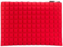 No Ka' Oi - extra large grid textured pouch - women - Polyurethane/Polyamide/Spandex/Elastane - OS - RED