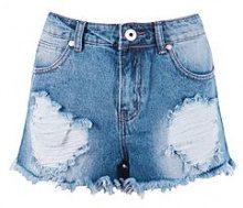 Fran pantaloncini corti in denim effetto consumato esageratamente intagliati