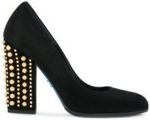 - Loriblu - Pumps con tacco borchiato - women - Rubber/Leather/Suede - 37.5, 38, 38.5, 39, 39.5, 37 - Nero