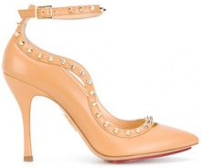 Charlotte Olympia - Pumps - women - Leather - 38.5, 39, 39.5 - NUDE & NEUTRALS