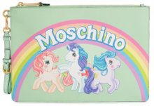 Moschino - Green My Little Pony Leather Pouch - women - Leather - OS - GREEN