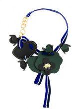Marni - Collana con fiore - women - Calf Leather - OS - GREEN