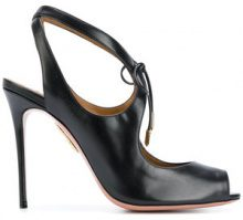 - Aquazzura - Sandalo 'Riley' - women - Leather - 36, 35, 38.5 - Nero