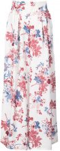 Misa Los Angeles - floral print palazzo trousers - women - Viscose - S, L - WHITE