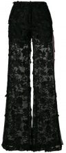 Ainea - embroidered flared trousers - women - Polyester - 40, 42, 44 - BLACK