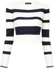 - Proenza Schouler - Maglia a righe - women - lana/fibra sintetica/seta/cashmere - L - di colore bianco