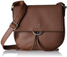 Gerry Weber Flash Over Shoulderbag Mhf - Borse a tracolla Donna, Braun (Cognac Old), 4x22x25 cm (B x H T)