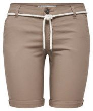 ONLY Solid Chino Shorts Women Beige