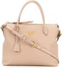 Prada - Borsa tote 'Cameo' - women - Leather - OS - NUDE & NEUTRALS